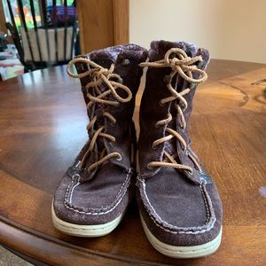 Sperry suede boots